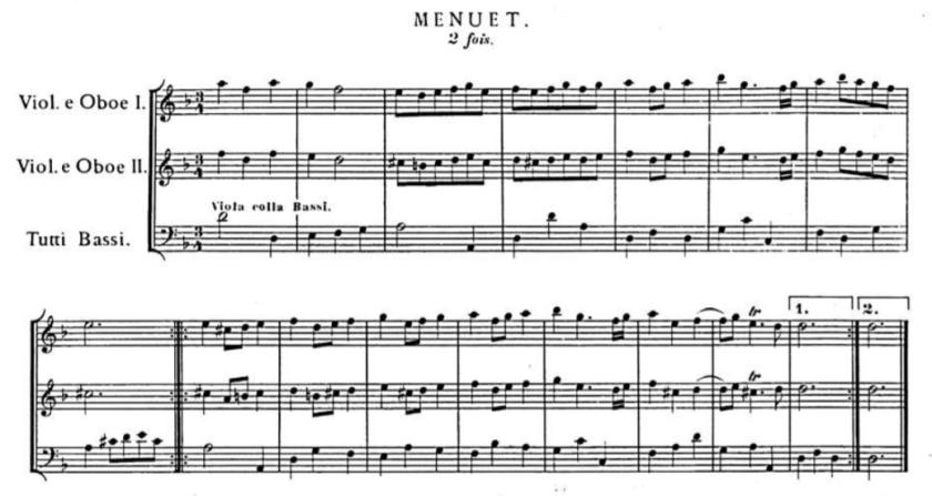 Haendel Menuet